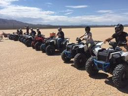 All of our group on the ATV's in the dry lake bed , Ashley O - August 2017