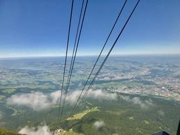 cable car takes you above the clouds , David L - August 2017
