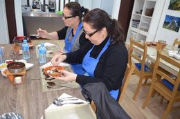 My sister and I making our chocolates. , Emily W - January 2016