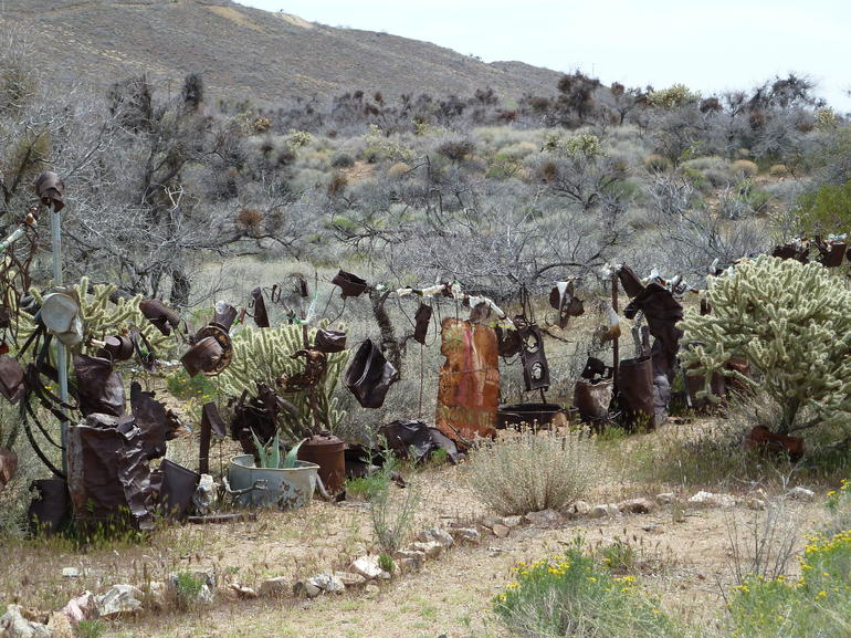 Cactus, rattlesnakes and more Americana junk art! - Las Vegas