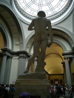 This view of David was never meant to be seen if it had gone in the original spot, yet it is also perfect. Our guide gave us an excellent overview of the creation of David, including that the marble..., Jane M - September 2016