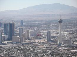 This is the view as we approach Las Vegas. The flight down the full lenght of thge Strip was brilliant., Niffyfoxes - October 2010