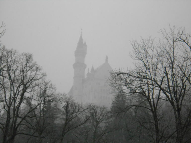 Mist covering the Neuschwanstein Castle - Munich