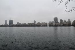 The huge reservoir in the centre of the park, Manhattan skyscrapers on the edge of the park , Thomas M - March 2017