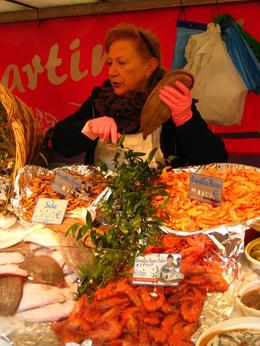 One of the stalls in the markets. - November 2008