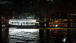 From our dinner table you can view other illuminated boats and the skyline of the city. , ERNESTO R - June 2016