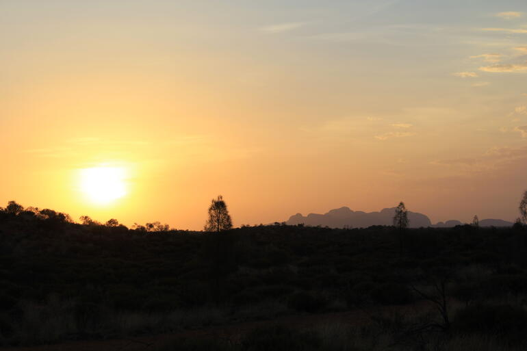 Sunset over Kata Tjuta - Ayers Rock