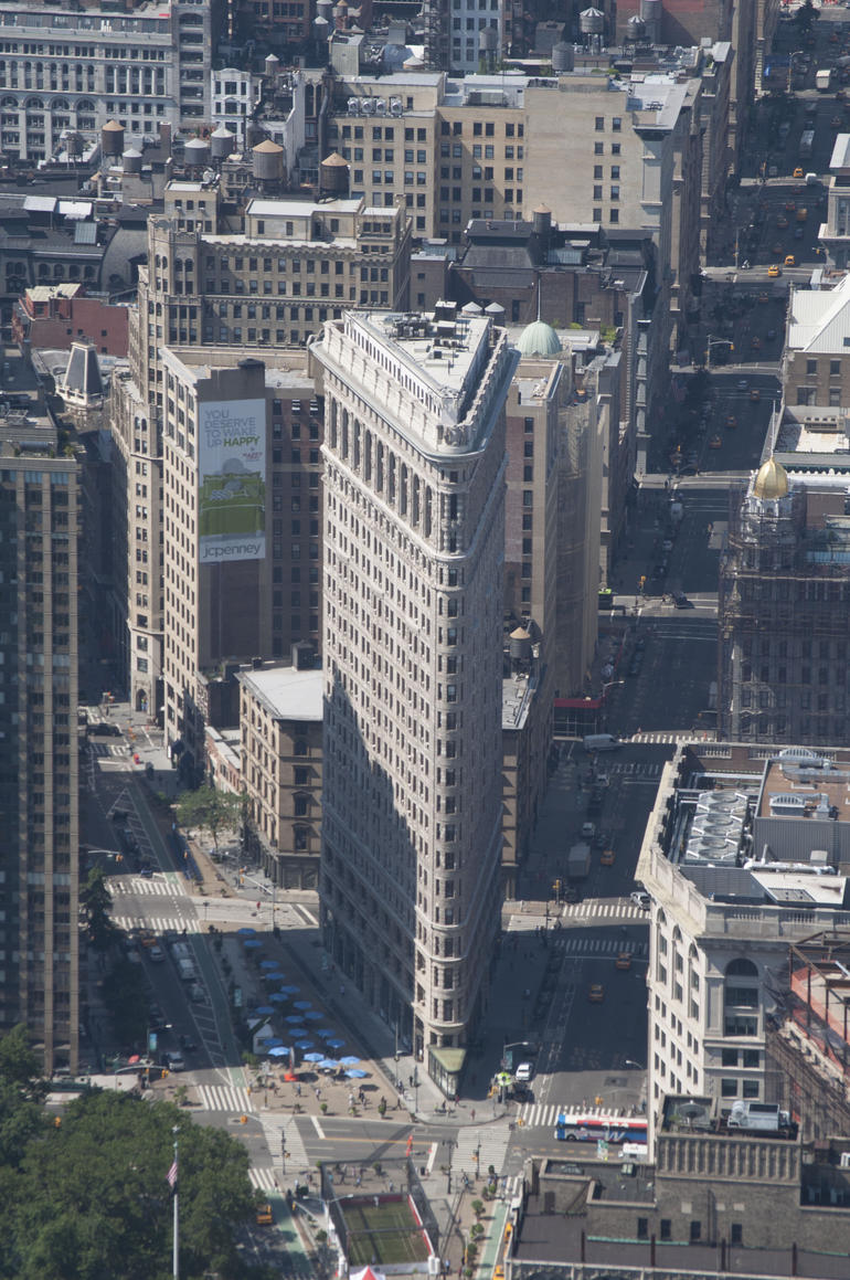 The Flatiron Building from the top of the Empire State Building - New York City