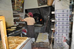 Inside a bakery in the Kasbah , kands - November 2012