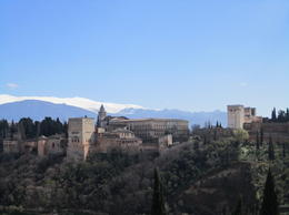 Alhambra from across the valley in the Muslim Quarter , Colleen T - March 2013