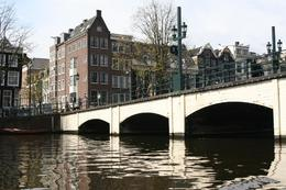 A nice serene shot of a bridge over the Amstel River. - April 2008