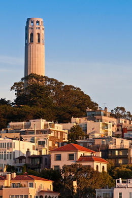Coit Tower, North Beach neighborhood – San Francisco - April 2011