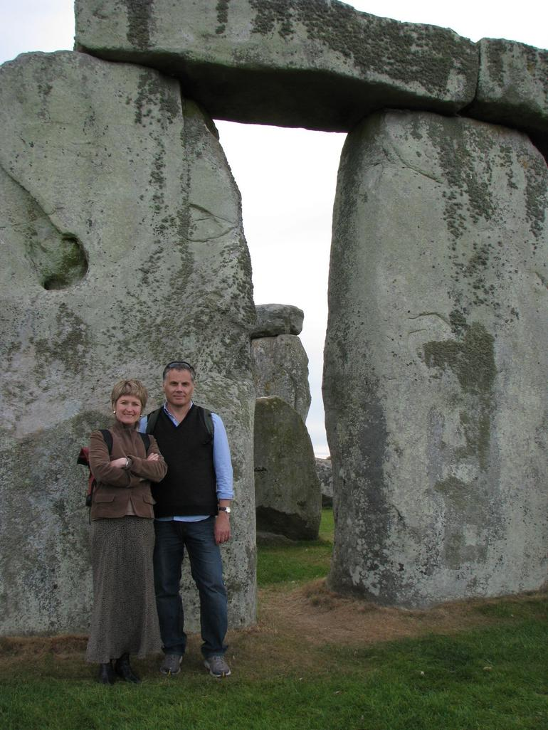 Happy Travelers at Stonehenge - London