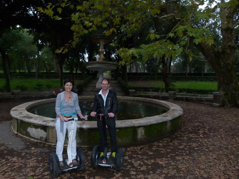 Marie et Didier, Segway villa Borghese - Rome