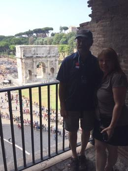 My husband and I enjoying the tour of the colosseum. , lmariescott - October 2016