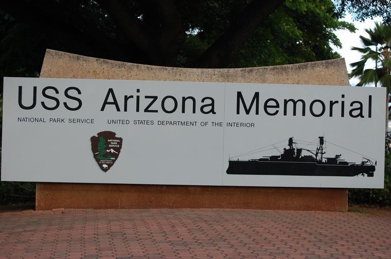 USS Arizona Memorial Sign - Oahu