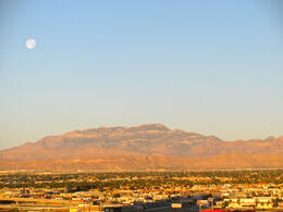 A beautiful sunrise in Las Vegas, taken from the Circus Circus Hotel. , Peter Whitten - March 2011