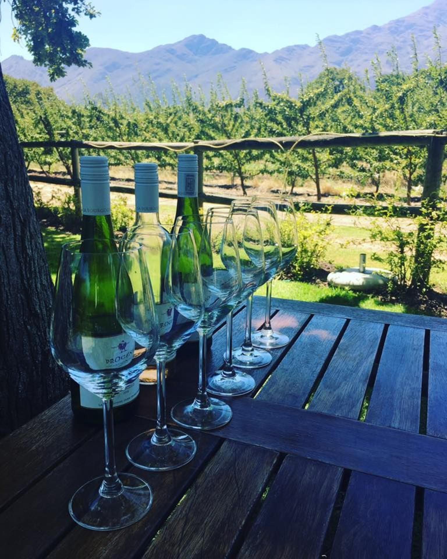 MAIS FOTOS, Excursão guiada de dia inteiro em vinícola no Vale de Franschhoek, incluindo bonde do vinho saindo da Cidade do Cabo