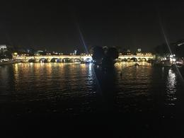 Night view of a bridge on the Seine , Chris V - August 2017