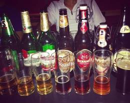 The seven brands of Czech beer on offer... , Laksh - September 2016