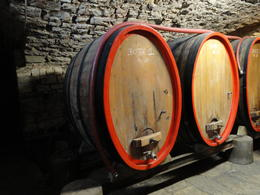 Wine barrels in the castle , Caroline - March 2011