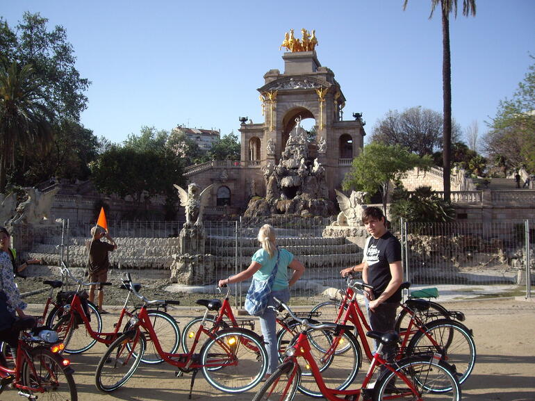 Bike stop at Parc de la Ciutadella -