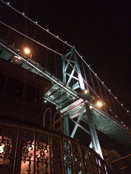 Just passed under the Lions Gate Bridge looking from the bow of the boat. , Maura G - October 2015