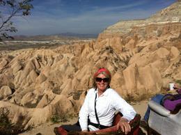Sitting having coffee in Cappadocia. , Diane F - November 2014