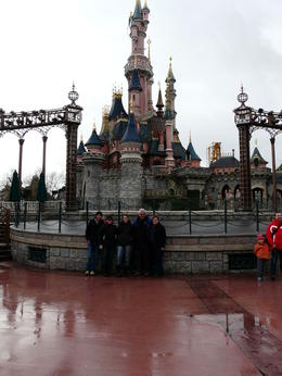 Brendan, Alicia, Renae, Stan and Fay, enjoying Fantasyland , Fay N - January 2011