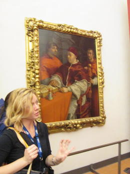 Our afternoon tour guide at the Uffizi , Donna B - November 2014