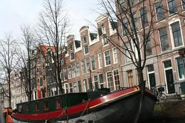 Enjoying the view you can only get from the canal. Houseboats and wonderful architecture. - April 2008