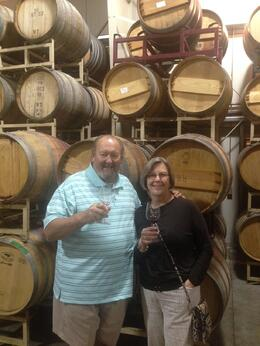 Sampling the wares of the first winery. You stop at three, pace yourself. , EddieWhiz - July 2014