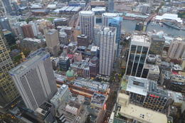 Looking down from the Sydney Tower Restaurant , Kristine K - March 2017