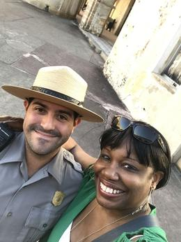 Thanks for jhelping a tourist out in a selfie - Dept of Interior Ranger! , Valerie M - March 2017