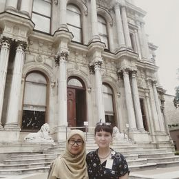 Me and the Viator tour guide at Beylerbeyi Palace , Jutti - July 2016