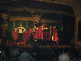 Flamenco Show - enjoying dinner and vine watching show , Joan K - October 2012