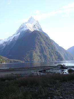 The majestic peak definitely makes Milford Sound as amazing as it is....loved to just sit there and take it all in., Monica M - August 2010