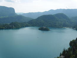 View of Lake Bled from Bled castle tower , Rodney L - August 2012