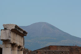 A shot from the main market area looking back up to Vesuvius from Pompeii whilst on our tour with guide Willy. , Graham B - July 2014
