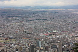 Great views of Bogota from Mt Monserrate., Bandit - September 2012