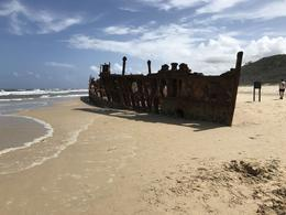The ship wreck on Frazer Island , Mary n - January 2017