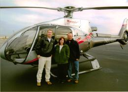 Before departure with our pilot Chris , Pamela P - November 2011