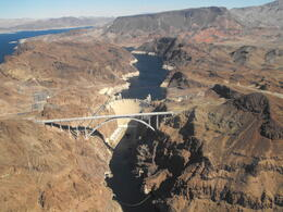The new bypass bridge and Hoover Dam., Lindy - March 2013