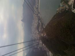 Heading down the mountain in the cable car!, Bandit - September 2011