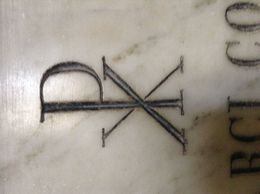 This is a Chi Rho in Saint Peter's basilica. , Sharon M - May 2015