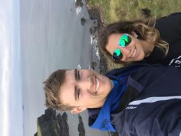 at top of hill @ giants causeway , Florence Ariana F - October 2016