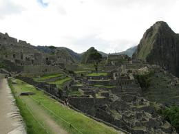 The view when you first enter Machu Picchu , Kaitlyn B - January 2014