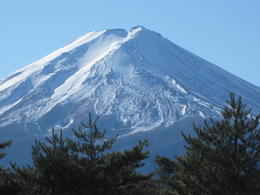 This picture was from the visitor center at the base of Mt. Fuji. The second stop is about halfway up and above th snow line. , Gregory B - December 2011