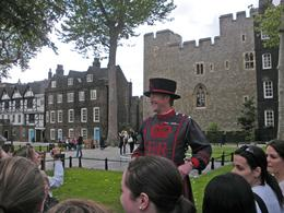 The Beefeater's mix of humor and history even enthralled my 15 year old granddaughtger. I wish I could have had this experience when I was her age for what a help it will be when she gets into her..., Judith N - July 2010