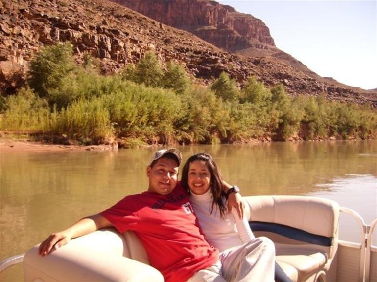 Part of the time we spent on the boat after the helicopter tour - Las Vegas